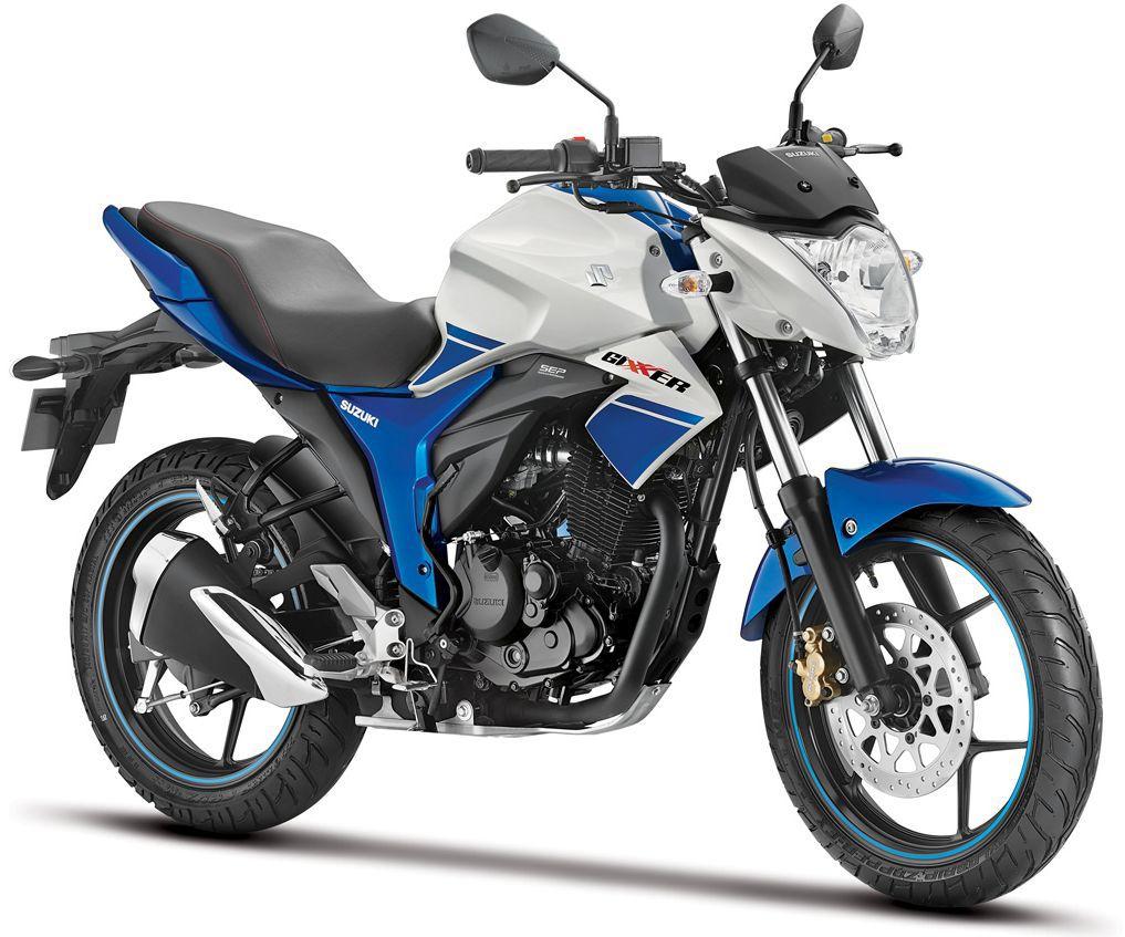 Suzuki Gixxer Dual Tone White and Blue