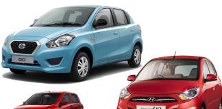 Datsun Go vs Maruti-Suzuki Celerio vs Hyundai i10