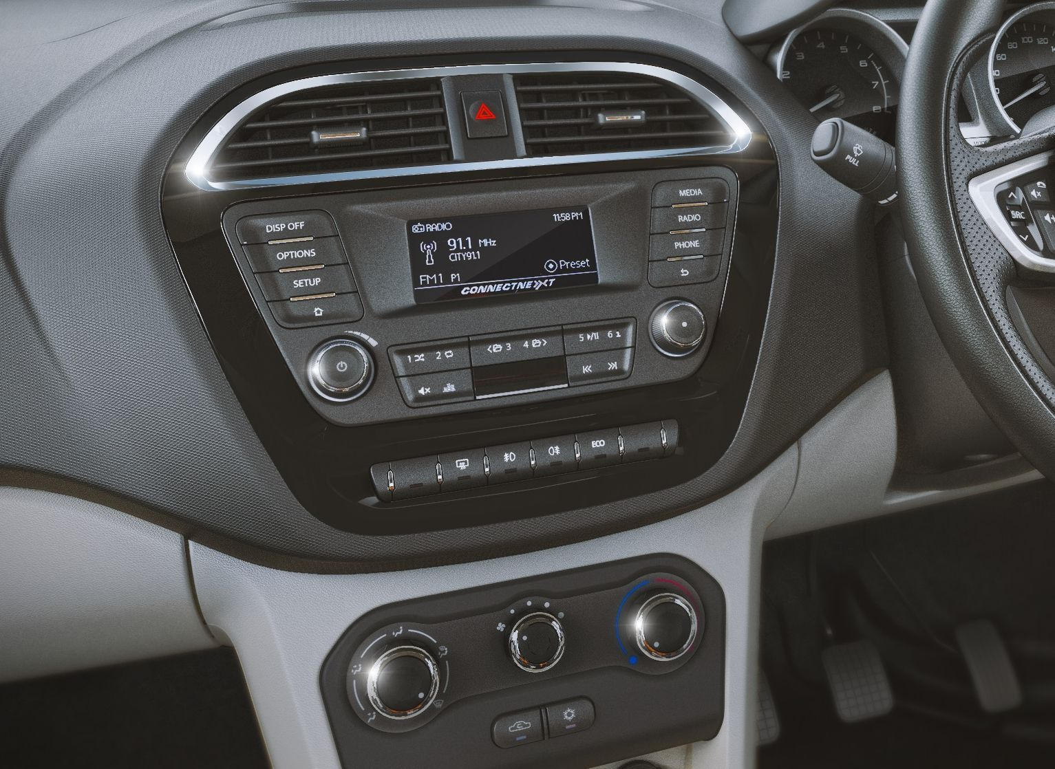 Tata Zica Music System - the perfect partner for long drives. Image Courtesy: ondrive.in